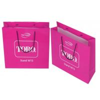 Buy cheap Laminated Gift Recycled Paper Bags with Crushing Surface , Red from wholesalers