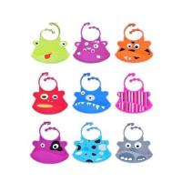 Buy cheap cute style silicone baby bib ,colorful silicone baby bibs product