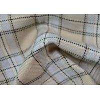 Buy cheap Comfortable 100 Polyester Fabric / Yarn Dyed Plaid Fabric For Garments from wholesalers