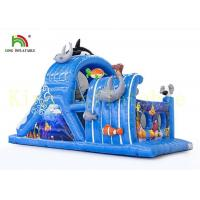 Buy cheap Colorful Sea World Kids Indoor Toys Inflatable Obstacle Course with Fire Retardant PVC Materials from wholesalers