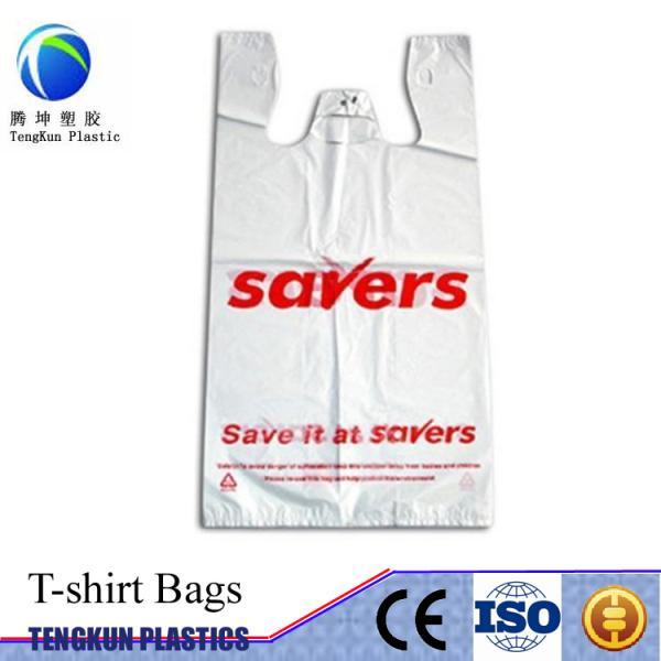 Plastic t shirt vest bag plastic bags for shopping 104138364 for Plastic bags for t shirts