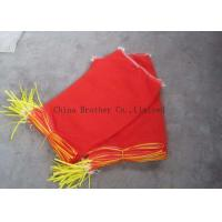 Buy cheap PE  / PP Woven Industrial Mesh Bags 50kg Orange Color For Onions / Eggplant from wholesalers