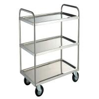 Buy cheap Commercial Restaurant 0.8mm Silver Stainless Steel Cookwares / Trolley 530x325mm from wholesalers