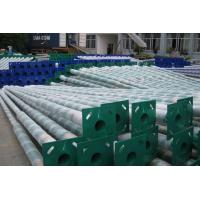 China Outdoor Parking Concrete Light Pole , Yard / Residential Light Poles Conical Round on sale