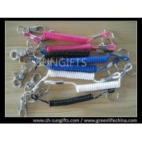 Buy cheap Different colors spring coils, clip-on key coil, spiral clip holder from wholesalers