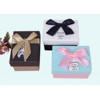 Buy cheap Different Colors Small Cardboard Packing Boxes With Ribbon Bow Lid from wholesalers