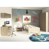 Teenage Bedroom Furniture With Desks , Simple Youth Bedroom Sets With Hanging Cabinet