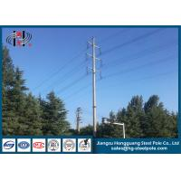 Buy cheap Hot Dip Galvanized 110KV Polygonal Steel Tubular Pole For Electrical Power Distribution Line product