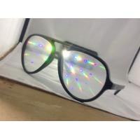Buy cheap Popular Style Plastic Diffraction Glasses , Rainbow Laser Glasses product