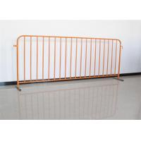 Buy cheap Stainless Steel Temporary Fence Crowd Control Barriers For Portable Pedestrian product