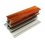 Buy cheap T Shape Wood Finish Aluminium Profiles Length Customized For Glass Doors from wholesalers