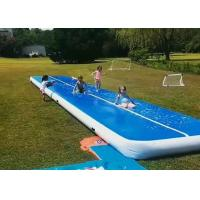 Buy cheap Professional Double Fabric Wall Water Game Slip And Slide Long Air Track With Air Pump from wholesalers