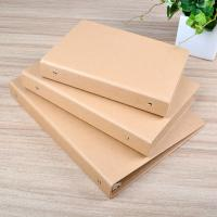 Buy cheap Craft paper file folder with ring binded A6,A5,A4 size available from wholesalers