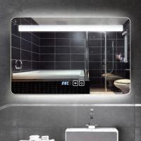 Buy cheap Hidden SS frame bathroom led lighted mirror Square Wall Decor Mirror in multicolour for living room from wholesalers
