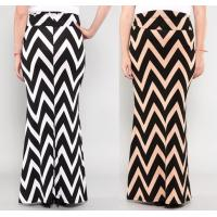 Buy cheap Spring Chevron Print Zigzag Womens Long Maxi Skirts In Polyester / Spandex from wholesalers