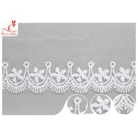 Buy cheap Polyester Width 3CM Ribbon Embroidered Lace Trim For Wedding Dress from wholesalers