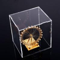 Buy cheap Square Counter Acrylic Display , Case Plastic Stand Clear Storage Box Jars With Lids from wholesalers