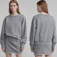 Buy cheap Ladies Gray Cotton Two Piece Set Sweatshirt Women from wholesalers
