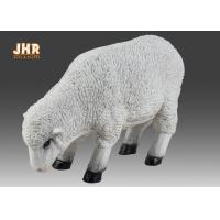Buy cheap Indoor White Polyresin Dolly Sheep Statue Animal Figurines Floor Sculpture Decor from wholesalers