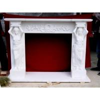Buy cheap The stone material stone lady fireplace statue with marble fireplace mantle from wholesalers
