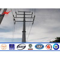 Buy cheap Transmission Line Hot Rolled Coil Steel Power Pole 33kv 10m Electric Utility Poles from wholesalers