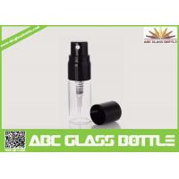 Buy cheap Hot Sale Mini Black Pump Cover Glass Bottle 5ml Perfume Spray Clear Bottle from wholesalers