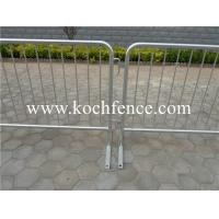 Buy cheap Galvanized Metal Crowd Barriers , Construction Barrier Fence 2200mm-2500mm Width from wholesalers