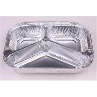 Buy cheap Three compartments aluminium foil container for food Air Line Lunch Box LA-F110 from wholesalers