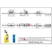 Electric Liquid Bottle Filling Line Large Filling Volume For Foaming Detergent Cleaner