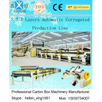 Buy cheap 100 M / Min A B Flute Corrugated Box Machinery Corrugated Carton Making Machine from wholesalers