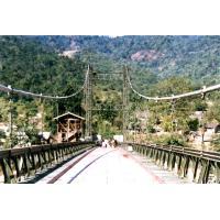 Permanent Assembly Steel Cable Suspension Bridge Simple structure