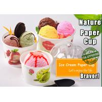 Buy cheap Green / White Disposable Ice Cream Bowls PE Coated With Wavy Pattern from wholesalers