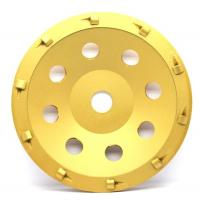 Buy cheap 5& 7 PCD Diamond grinding Wheel with quarter size PCD segments For Concrete Floor Coatings Removing from wholesalers