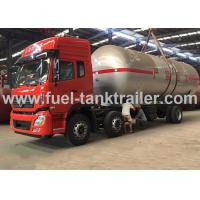 Buy cheap Water Cooled Red Color 6x4 Lpg Tanker Trailer 2.22MPa Hydrostatic Pressure from wholesalers