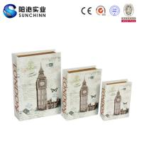 Buy cheap Muticolored Canvas Printing Wooden Box/ Book Box/Book Container for Storage from wholesalers