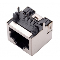 Buy cheap Straight DIP Half Shield POE Magnetic 8P8C RJ45 Modular Jack from wholesalers