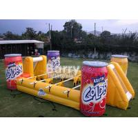 Buy cheap Commercial Entertainment Mini Inflatable Soccer Game For Play 3 Years Warranty from wholesalers
