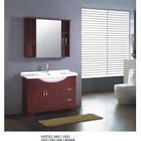 Buy cheap Mahogany flush color Ceramic Bathroom Vanity Double Ceramic basin soft closer from wholesalers