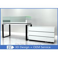 Buy cheap White Jewelry Display Cases , Retail Glass Wooden Jewellery Display Cabinets from wholesalers