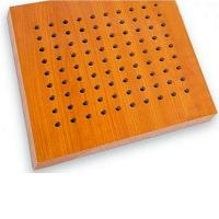 Buy cheap Technology Wood Veneer Surface Acoustical Ceiling Wooden Perforated Acoustic Board from wholesalers