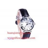 China Newly Lux Fashion lovers C-artier watch Platinum Black Belt C6,fast delivery,Roman numbers on sale