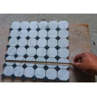 Buy cheap White Carrara Octagon Natural Stone Mosaic Tile 2 X 2 High Density , Low Water Absorption from wholesalers