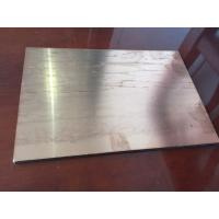 Buy cheap Brushed Copper Composite Panel 2000mm Length High Intensity For Ceiling from wholesalers