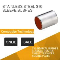 China 316 Stainless Steel Sleeve Bushing With Red Modified PTFE For Printing & Dyeing Machines on sale