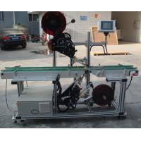 Buy cheap High Efficiency Top Labeling Machine with Split Belt Conveyor from wholesalers