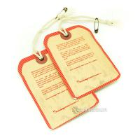 Buy cheap Fashion Custom Hang Tag Labels For Shirts Attach Metal Eyelet And Cotton String from wholesalers