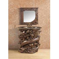 Buy cheap Waterproof Resin Artistic Vanity Bathroom Sink Cabinet With Mirror from wholesalers