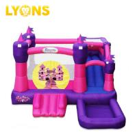 Buy cheap Jump And Slide Pink Bounce House PVC Plato Tarpaulin Scratch - Proof  4*4*4m from wholesalers
