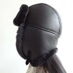 Buy cheap Lamb Fur Leather Shearling Trapper Hat 5 Panel Australian Sheepskin For Men / Women from wholesalers
