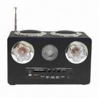 China Mini speaker for iPod, Active Loud Speaker, with Two Flashlights, Super Bass and Volume Turner on sale